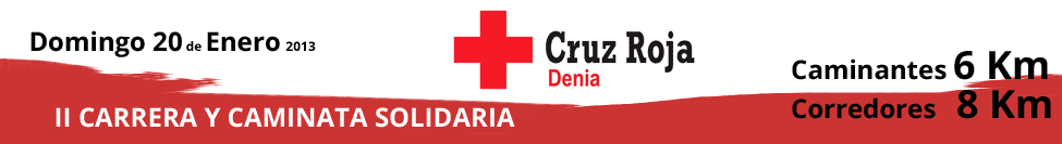 Carrera Solidariaa por Cruz Roja Denia