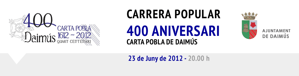 Carrera Popular 400 aniversari carta pobla de Daims