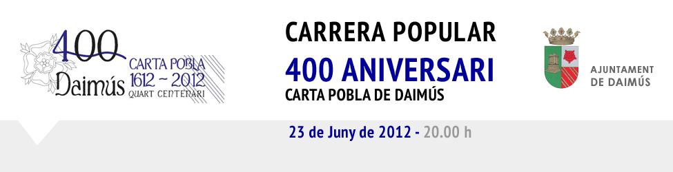 Carrera Popular 400 aniversari carta pobla de Daimús