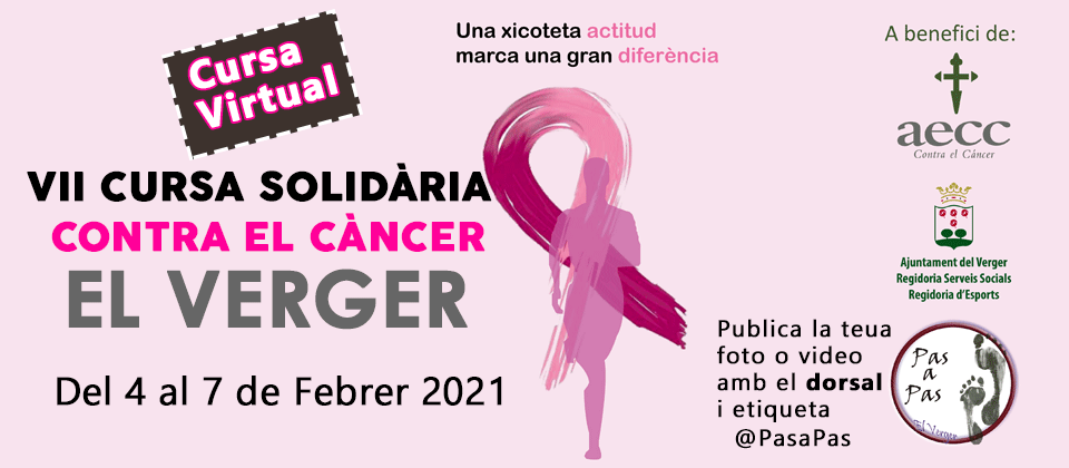 VII Cursa virtual contra el Cancer El Verger